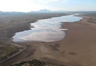 Playas Valley - The normally dry Playas Lake holds water after the monsoon season