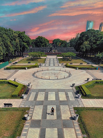 The historic Plaza Moriones in Fort Santiago, Intramuros. Plaza Moriones, Fort Santiago.jpg