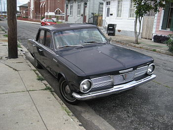 Plymouth Valiant 100 of some 40 years ago seen...