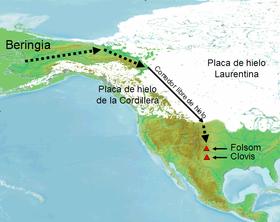 Ruta del poblamiento de América según el Consenso de Clovis.