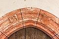 Poggersdorf Leibsdorf Filialkirche hl. Martin got. Portal Wappentartschen 03012019 5769.jpg