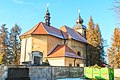 Pohled na kostel svatého Jana Nepomuckého v Lánech na Důlku 03.jpg