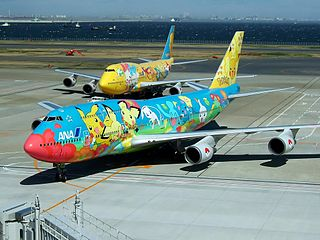 Pokémon Jet Special aircraft livery of ANA