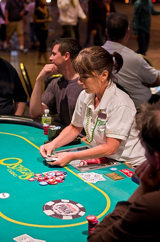 Betting in poker - The pot of chips is normally kept in the center of the table