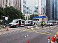 Police cars on Connaught Road Central on 2014-12-11 (5).JPG