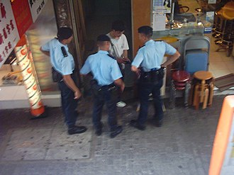 Police Tactical Unit (Hong Kong) - Image: Police inspection in hk