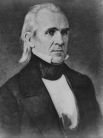 California Republic - US President James K. Polk favored expansionist policies that led to the annexation of Texas and California.