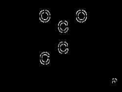Struktur von Polyacrylsäure