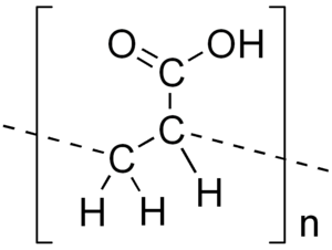 Polyacrylic acid - Image: Polyacrylic acid
