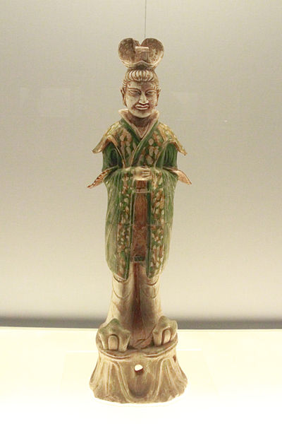 File:Polychrome glazed pottery figurine of civil official 2.jpg
