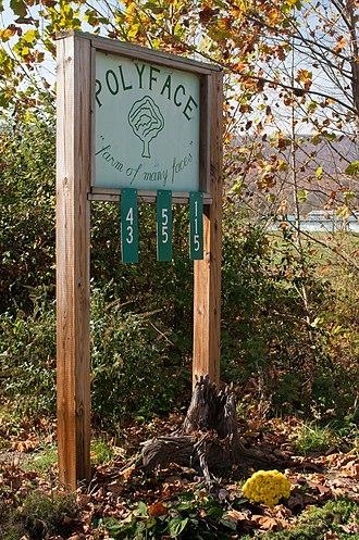 Polyface Farm - Entrance sign