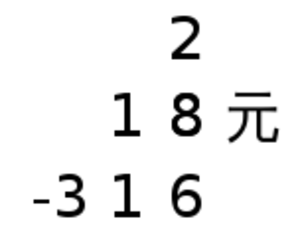 Li Ye (mathematician) - Image: Polynomial equation in tian yuan shu with arabic numerals