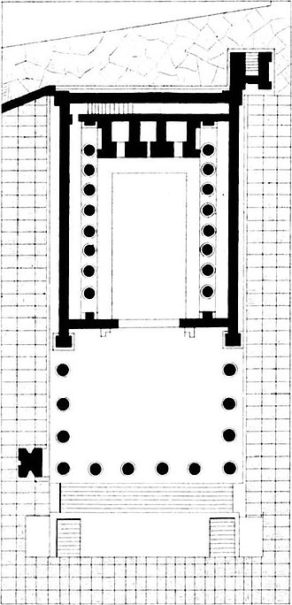 Temple of Jupiter (Pompeii) - Plan.
