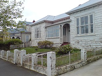 Ponsonby, New Zealand - Not all the older villas in the area are restored yet.