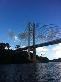 Bridge between Brazil and French Guiana