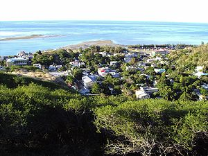 Port Mathurin as seen from Mount Fanal