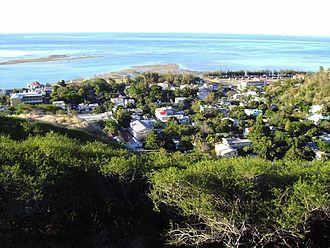 Port Mathurin - Port Mathurin as seen from Mount Fanal