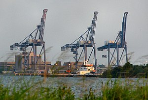 Port of Galveston - Cranes at the Port of Galveston container terminal