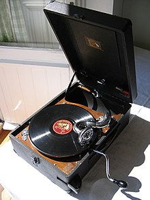 photo : un gramophone protable