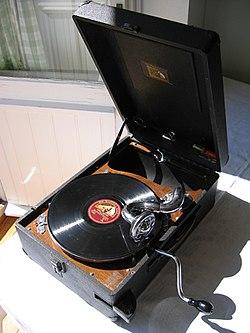En gammal grammofon