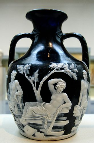 Cameo glass - Image: Portland Vase BM Gem 4036 n 4