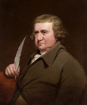 The Botanic Garden - Erasmus Darwin in 1792 by Joseph Wright of Derby