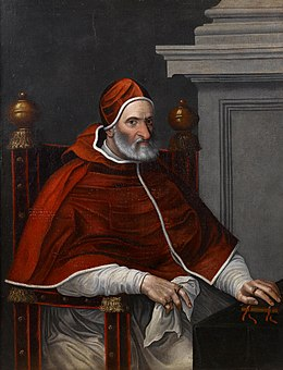 Portrait of Pope Pius IV, three-quarter-length, seated at a draped table (Circle of Scipione Pulzone).jpg