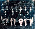 Portrait of the AIF No. 1 rowing crew from the Henley Peace Regatta (10933987556).jpg