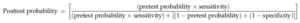 Forensic epidemiology - Post-test probability equation