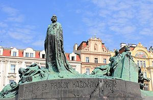 Old Town Square - Jan Hus Memorial