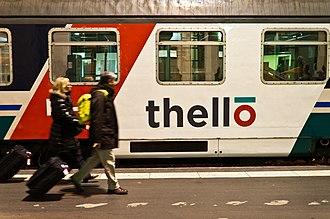 Thello - First Thello train at Paris Gare de Lyon station on 11 December 2011