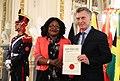Presentación de cartas credenciales - Embajadora de Zambia.jpg