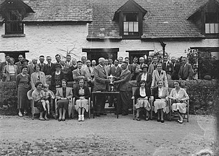 Presentation of a trophy to a member of Builth Wells Golf Club