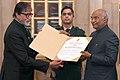 President Ramnath Kovind conferring Dada Saheb Phalke award on Shri Amitabh Bachchan2.jpg