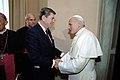 President Ronald Reagan and Pope John Paul II.jpg