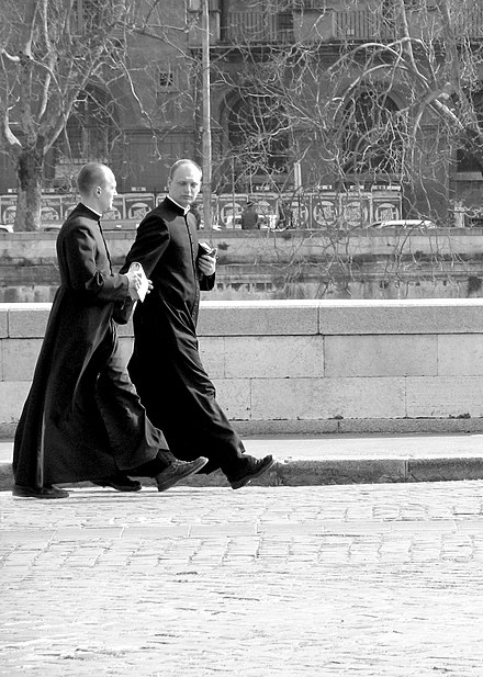 Catholic priests in Rome, Italy. Priests rome.jpg