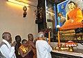 Prime Minister Narendra Modi at the Mahabodhi temple in Bodh Gaya.jpg