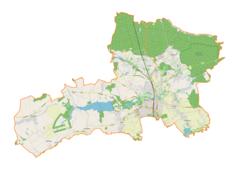 """Mapa konturowa gminy Pszczyna, na dole znajduje się punkt z opisem """"Łąka"""""""