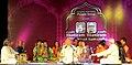 Pt Jasraj with disciples at the 45th Pt Motiram Pt Maniram Sangeet Samaroh, CCRT, Hyderabad.jpg