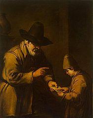 Old Man Teaching a Boy to Read