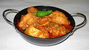 Chicken karahi - Karahi in an Indian restaurant