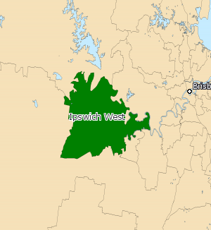 Electoral district of Ipswich West - Electoral map of Ipswich West 2008