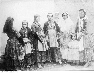 Iranian Armenians - Iranian Armenian women in the Qajar era