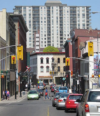 Kitchener, Ontario - Queen Street South looking north to King Street