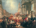 Queen Victoria's Procession to Goldsmiths' Hall by James H. Nixon.png