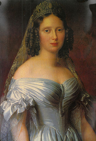 William III of the Netherlands - Portrait of Queen Sophie