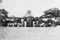 Queensland State Archives 5759 Hon J C Peterson Home Secretary and party with residents of Yorke Island Torres Shire June 1931.png