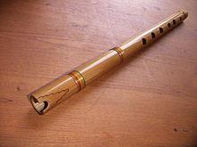 Una quena, strumento tradizionale andino.