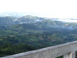 An overlooking view at a peak in Quezon