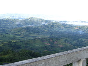 Quezon, Bukidnon - An overlooking view at a peak in Quezon